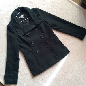 EUC H&M Forest Green Peacoat